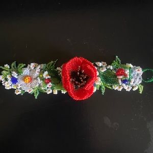 Beaded Ukrainian Floral Bracelet